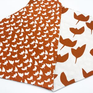 Orange and White Leaf dog bandana