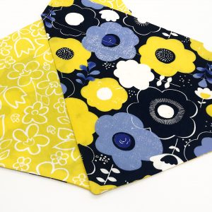 Blue and Yellow Floral dog bandana