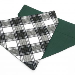 Green and White Plaid dog bandana