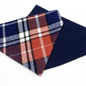 Red and Blue Plaid dog bandana