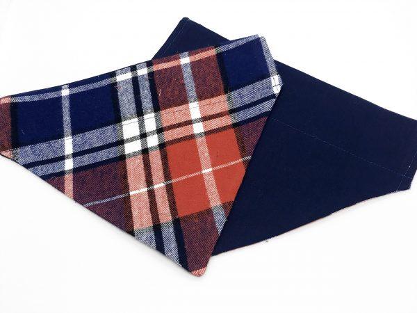 Red and Blue Plaid dog bandana