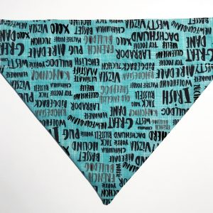 Teal Coloured Dog Breed Dog Bandana