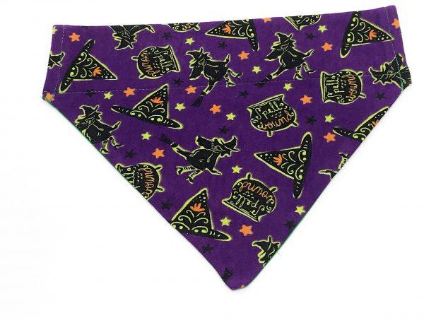 Purple Witches Halloween Dog Bandana