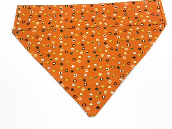 Orange Spotted Halloween Dog Bandana