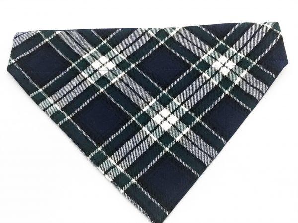 Blue/Green Oxford Plaid dog bandana