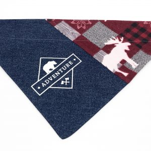 Denim Adventure dog bandana