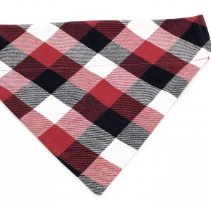 Red/Black/White Plaid dog bandana