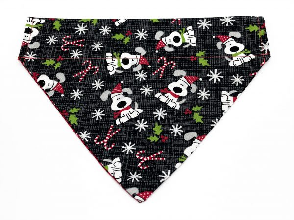 Puppy Dogs and Candy Canes Dog Bandana
