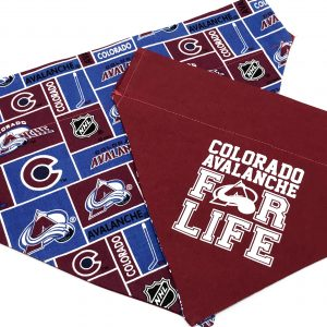 Colorado Avalanche Reversible Dog Bandana