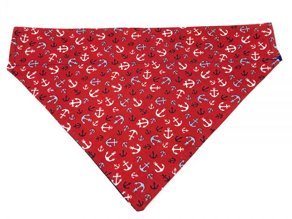 Nautical Anchors Red dog bandana