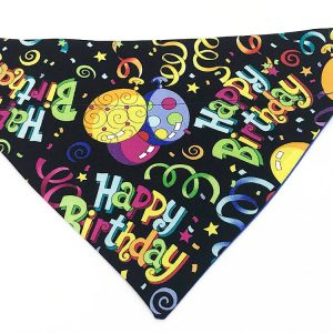 Happy Birthday dog bandana