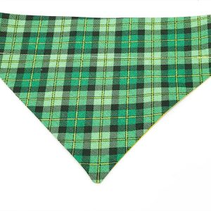 Irish Plaid dog bandana