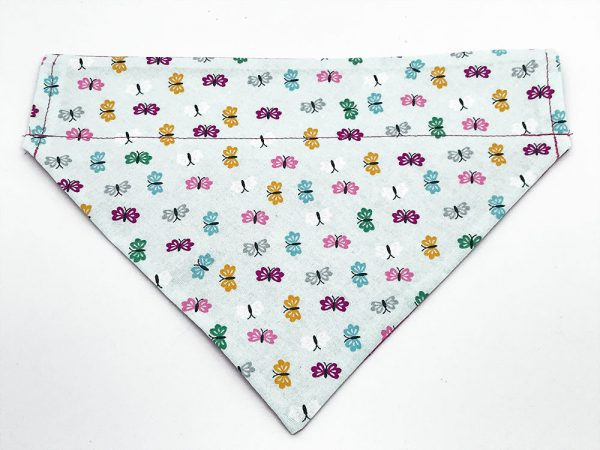 Butterflies and Flowers dog bandana