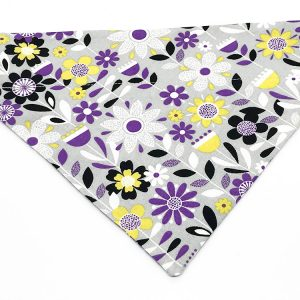 Purple Wildflowers dog bandana