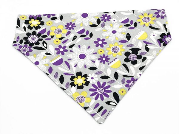 Purple Wildflowers dog bandana